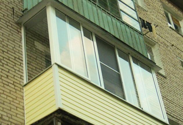 Балконы и лоджии окна в дом.